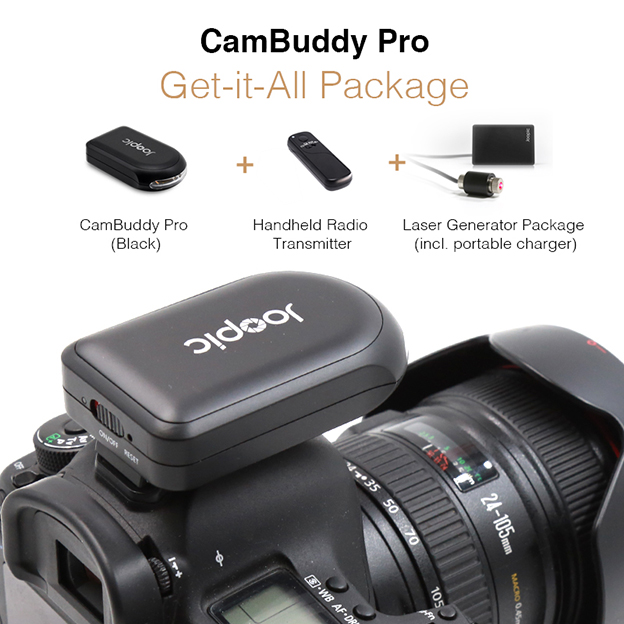 Get-it-all: Joopic CamBuddy Pro (Black) with all Accessories